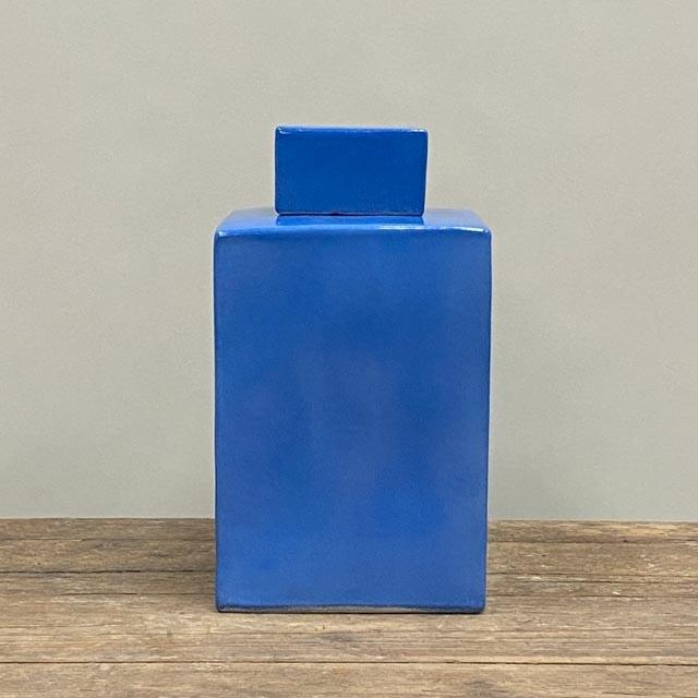 Square pot – sky blue