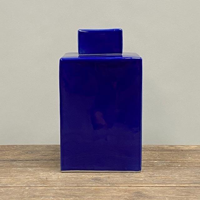 Square pot – dark blue