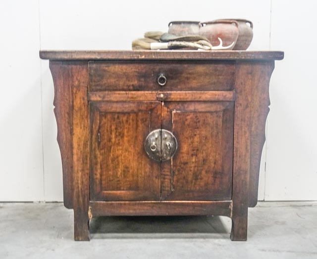 Cabinet made from walnut wood