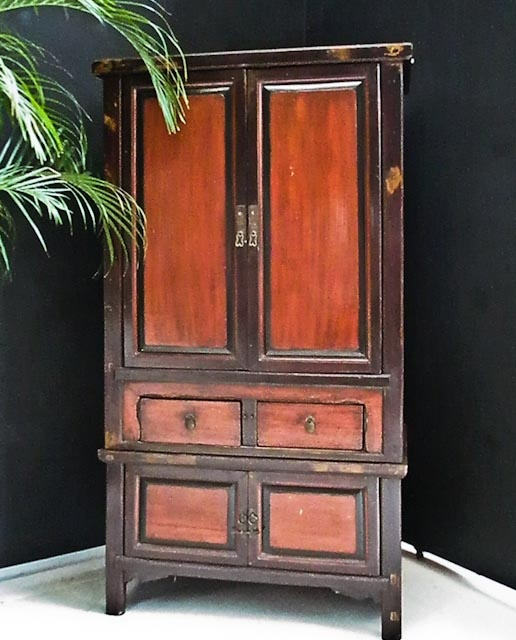Antique lacquered cabinet