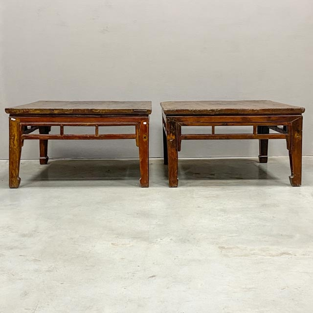 Pair of square coffee tables