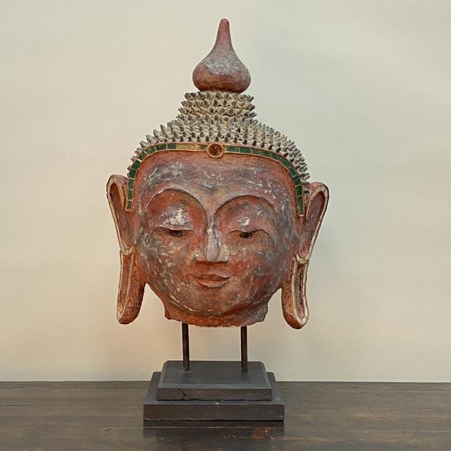 Unique red Buddha head