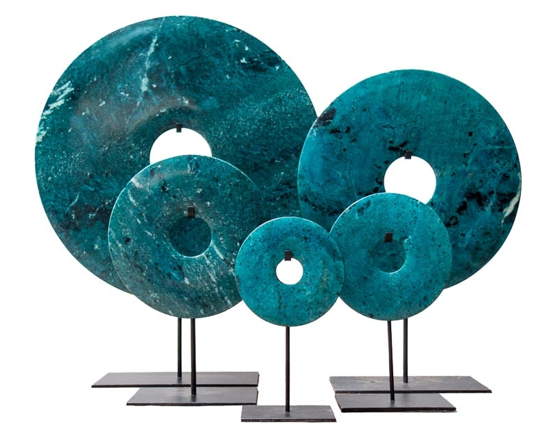 Bi disc in Blue turquoise with black specs – 40cm