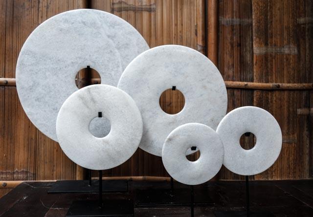 Bi disc in White – 40cm