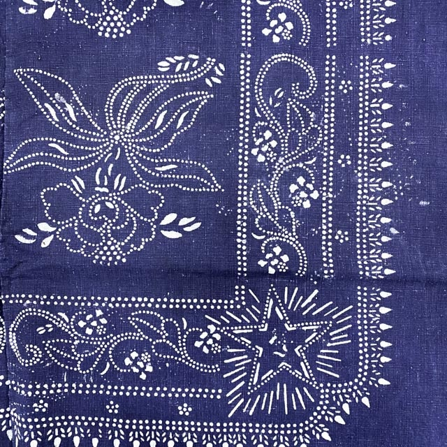 textile ethnique Miao bleu
