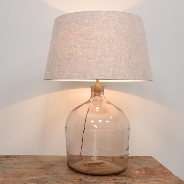 Vintage glass bottle table lamp