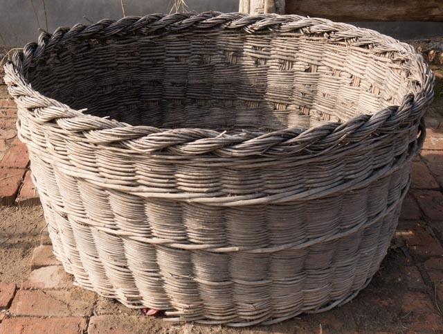 XXL old wicker basket