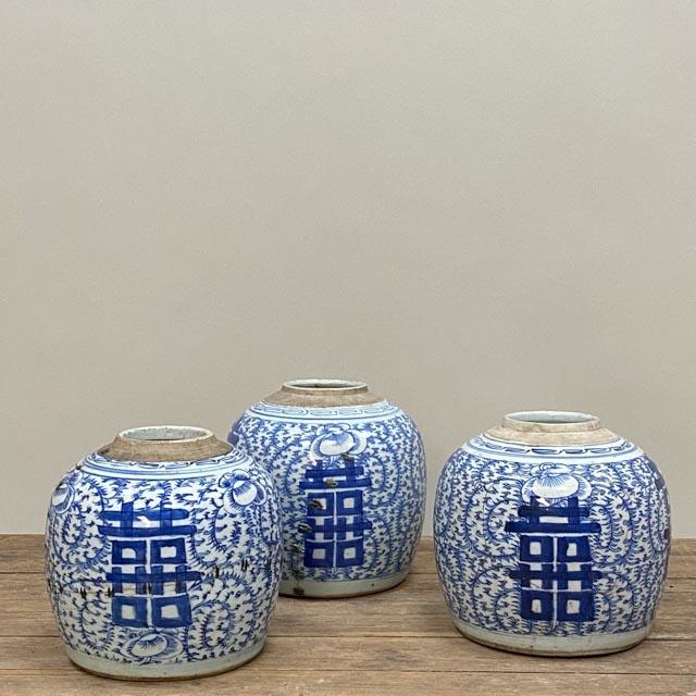Wabi sabi repaired ginger jars