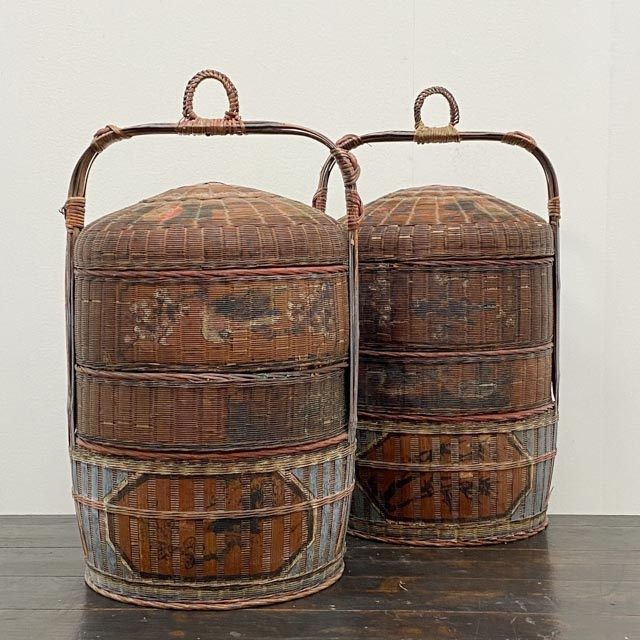 Pair of South Chinese wedding baskets