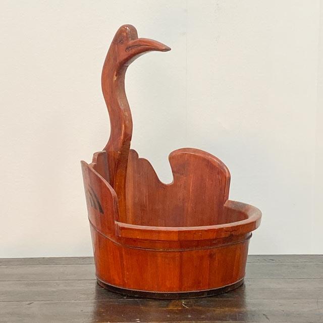 Wooden crane baskets