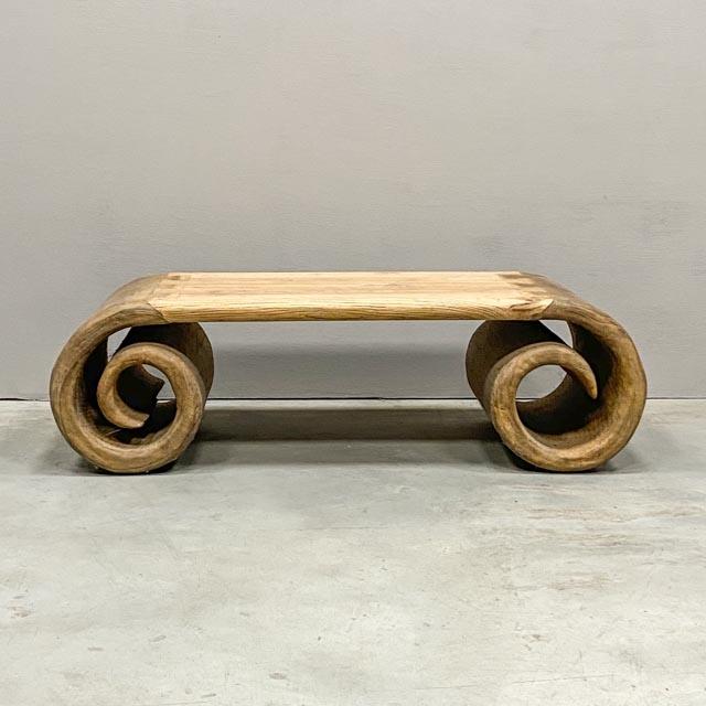 Modern scroll coffee table