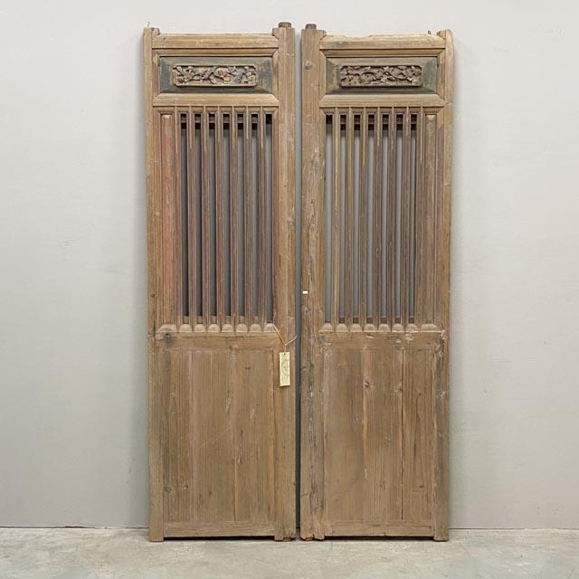 Unique pair of tall screen doors