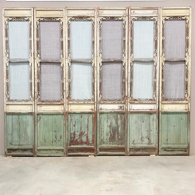 Set of 6 delicate screen doors