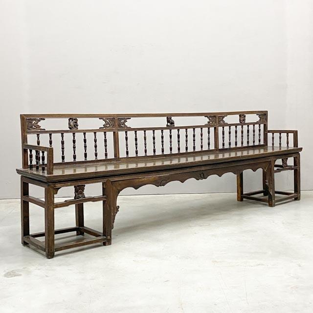 Unique tropical hardwood bench