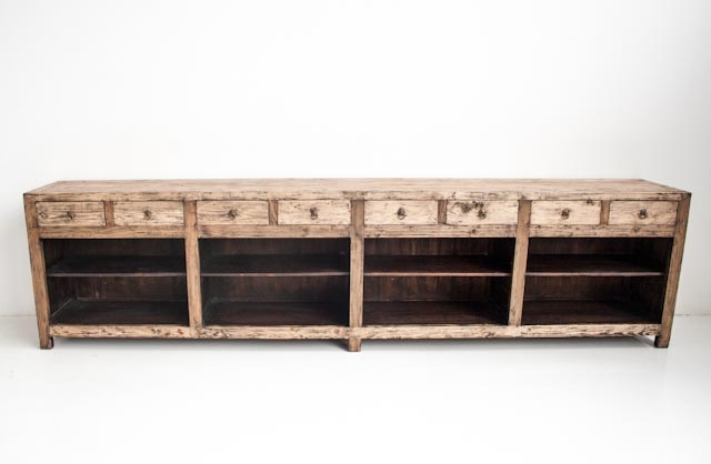 Extra large contemporary rustic console