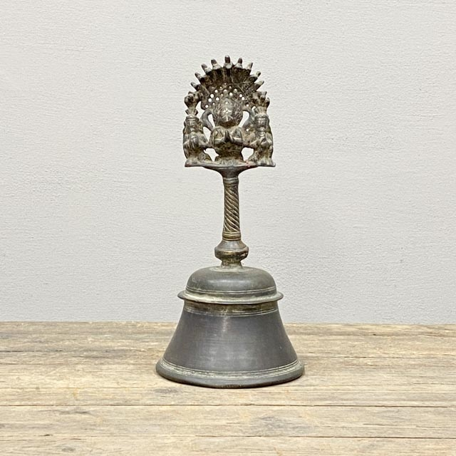19th Century Temple Bell with Hanuman and Garuda