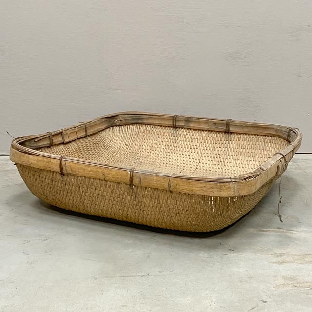 Old Chinese large wicker basket
