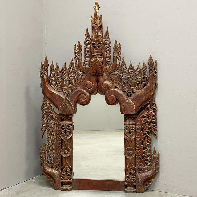 Large Thai wooden mirror