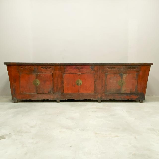 Antique Chinese Red sideboard