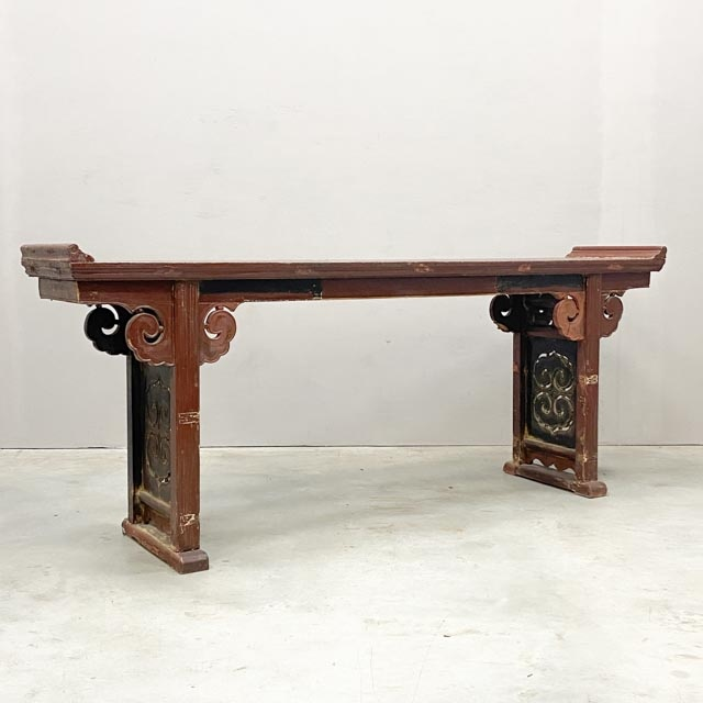 Large antique altar table