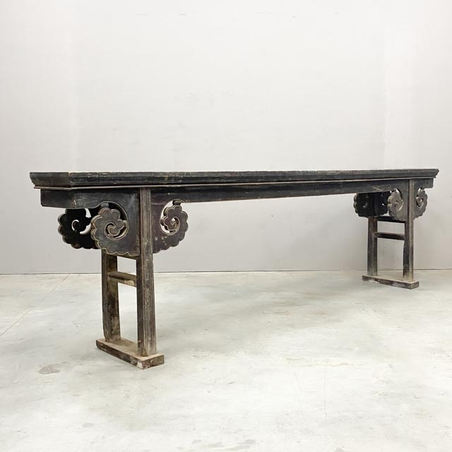 Extra long dark altar table