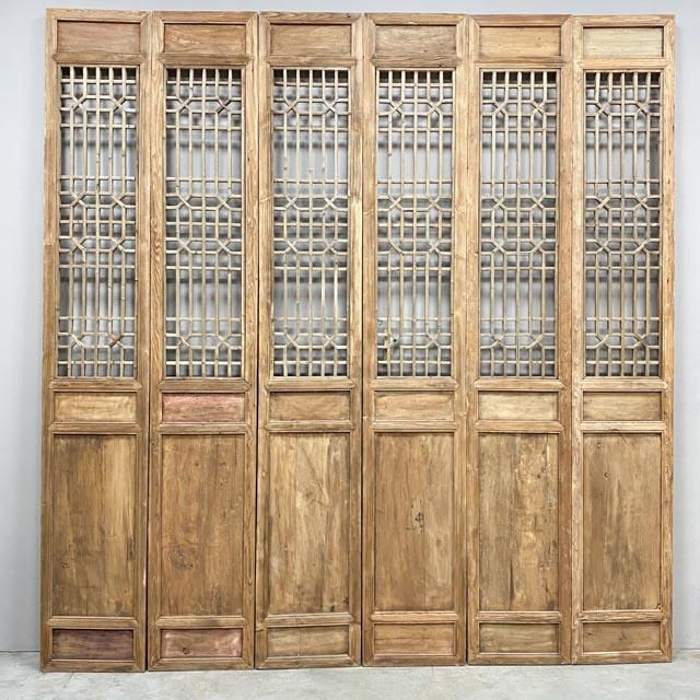Set of 6 screen doors