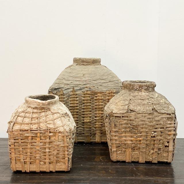 Wicker oil baskets