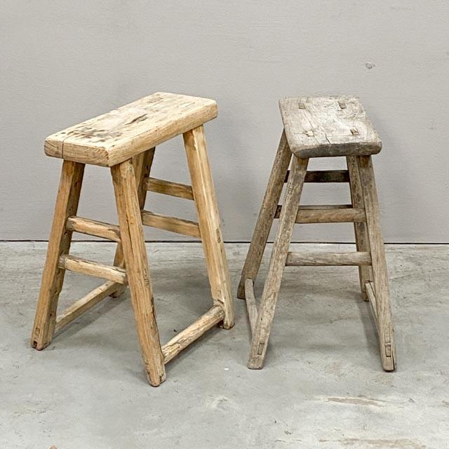 Rectangular rustic stools